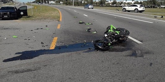 Harney Road Crash | FLorida Highway Patrol | Motorcycle Crash