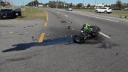 Motorcyclist Critically Injured in Harney Road Crash