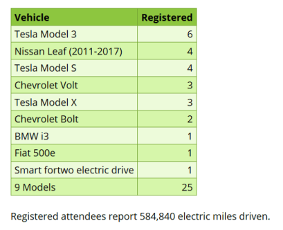 Electric Vehicle Display | Earth Day | TB Reporter