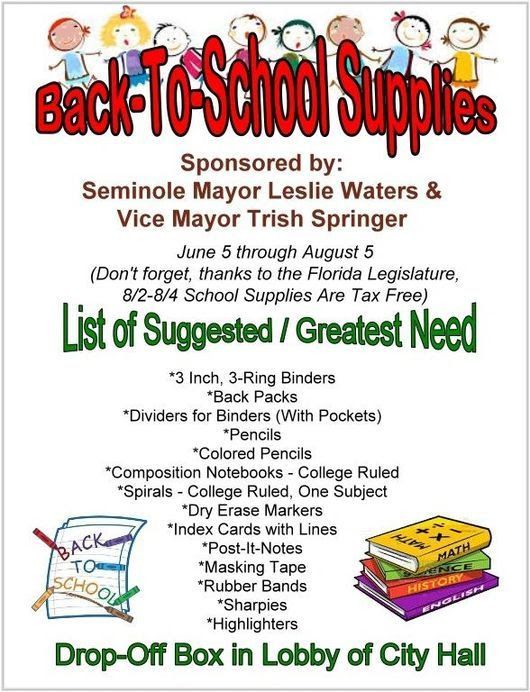 Seminole Collects Back-to-School Supplies | Tampa Bay Reporter