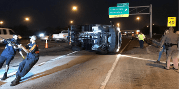I Crash FloridaHighwayPatrol OverturnedTruck