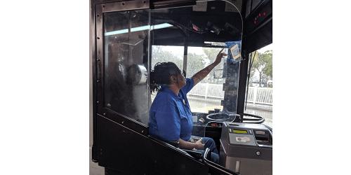 PSTA Safety Shields   Bus Service   Transportation