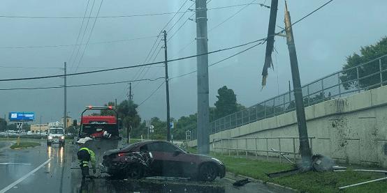 Florida Highway Patrol   ALt US 19 Crash   TB Reporter