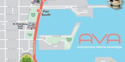 AVA Route Map | PSTA | Autonomous Bus