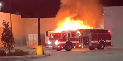 Cortez Boulevard | Walmart | Fire