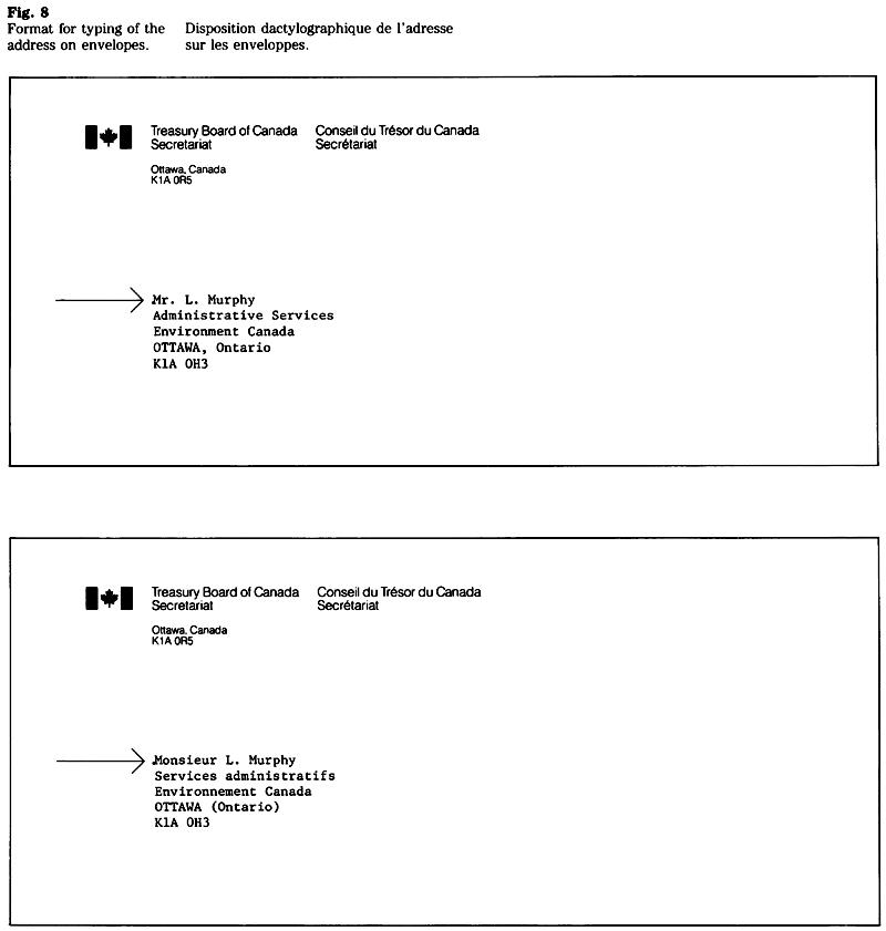 standard envelope format envelope address format related keywords