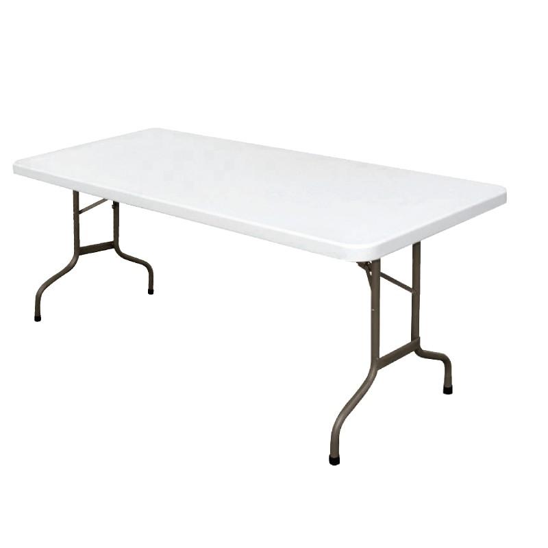 table rectangulaire pliante 1 20m 1 50m ou 1 80m