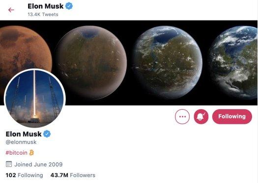 Elon Musk changes his Twitter bio to Bitcoin - Flipboard