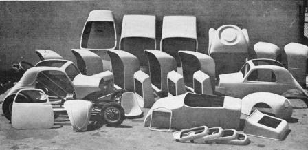 Cal Automotive fiberglass T-Buckets and other Hot Rod bodies