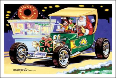 Maybe Santa Claus Really Does Drive A T Bucket Hot Rod