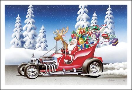 Santa T-Bucket Sleigh Hot Rod