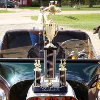 Tara Lubiato Arly Hayden T-Bucket car show trophy