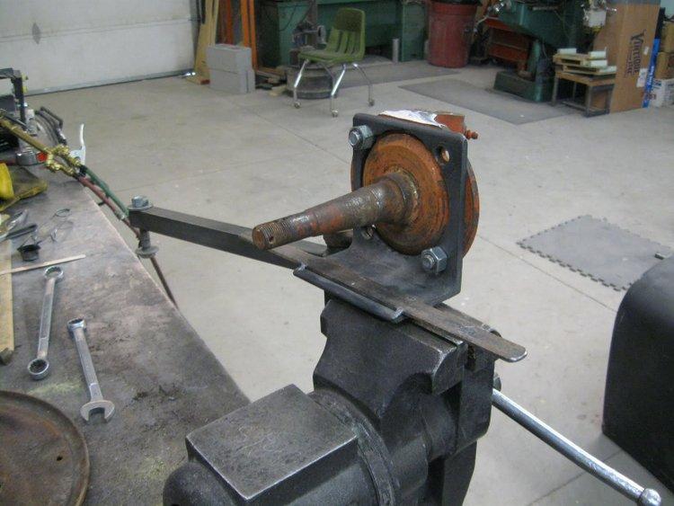 bending steering arms t-bucket