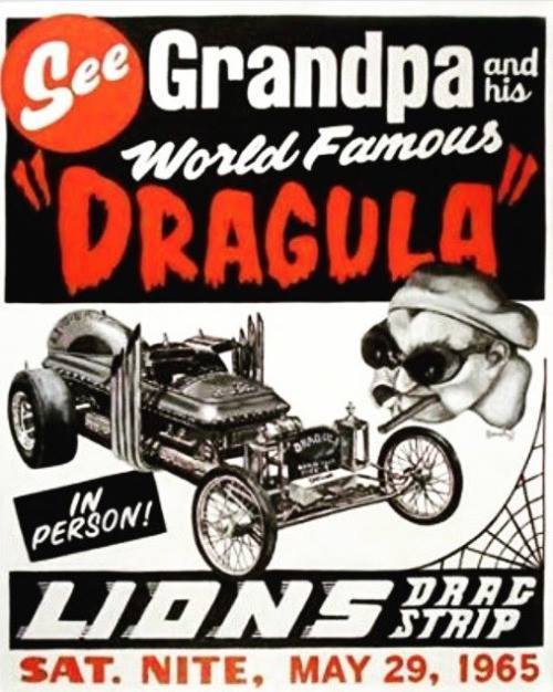 Munsters car dragula drag strip