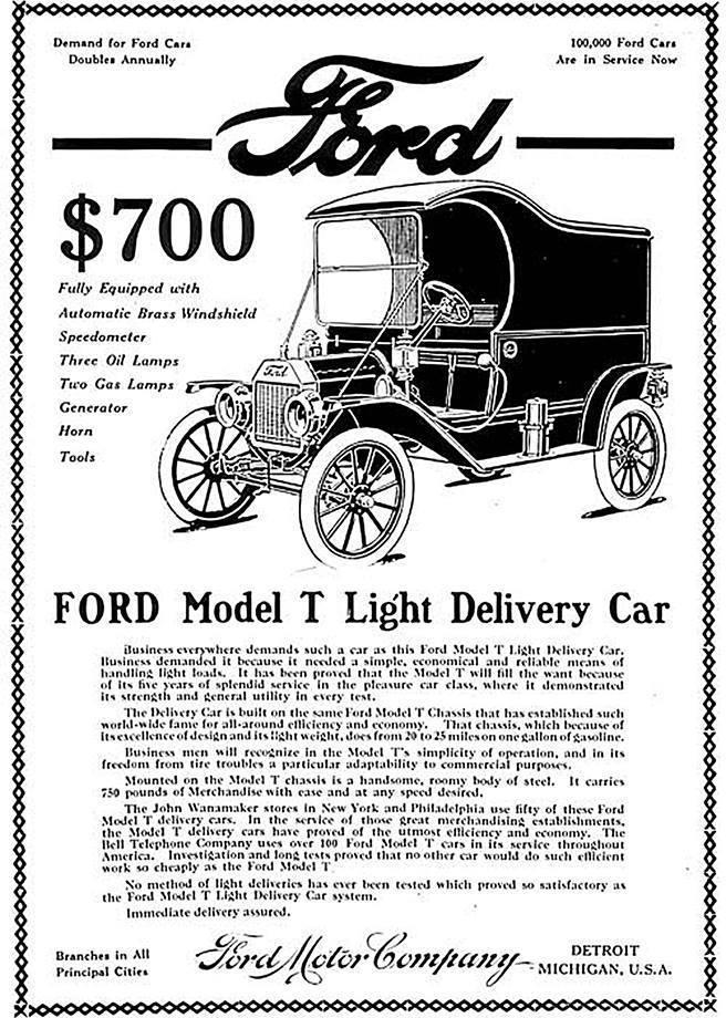 Ford Model T Light Delivery Car Butcher Truck