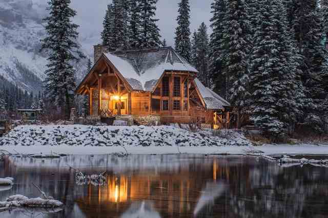 House in winter with backup generator.