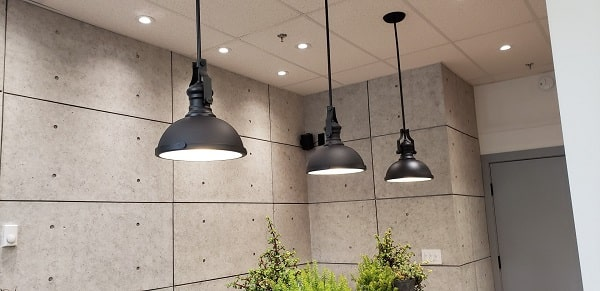 lighting installed by TCA's Vancouver electrical contractors