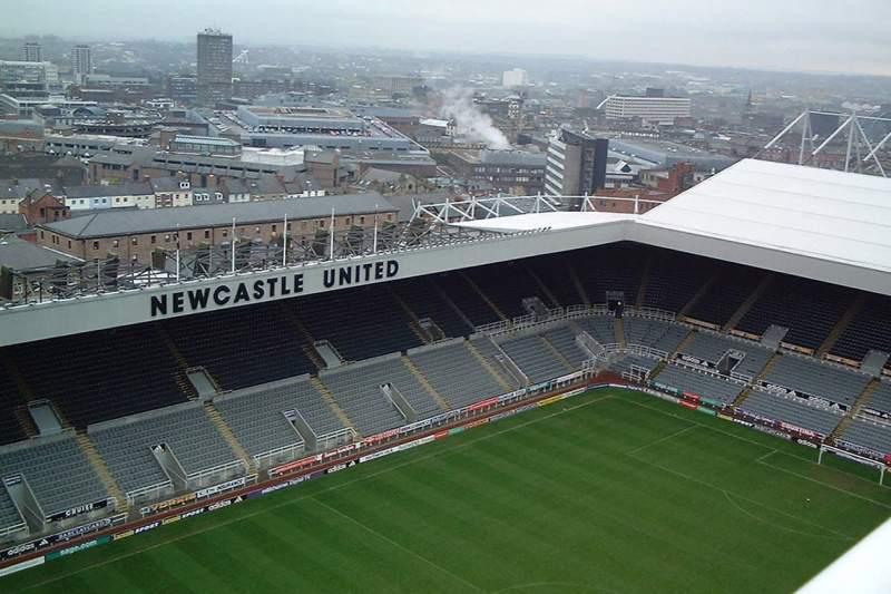 El Estadio de fútbol del Newcastle United F.C.