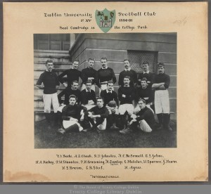TCD MUN CLUB RUGBYF/47/9 Dublin University Rugby Football 1st XV 1890-91, Frank Browning middle row second from left