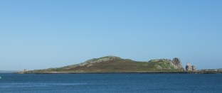 View of Ireland's Eye from Howth Harbour