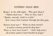 Excerpt from 'Sixteen dead men'