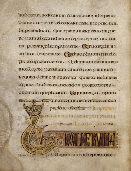 Figure 3 The Book of Kells, early 9th century, TCD MS 58, f. 16v © The Board of Trinity College Dublin, the University of Dublin. 2015.