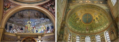 Figure 2aApse Mosaic, Santa Prudenziana, Rome, 4th century. Source. Figure 2b Apse Mosaic, Sant'Apollinare in Classe, Ravenna, 6th century. Source.