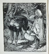 """""""When she got to the wood, she met a wolf"""" 1900"""