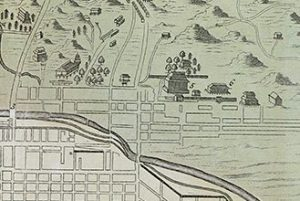 A plan of the imperial city of Kyoto