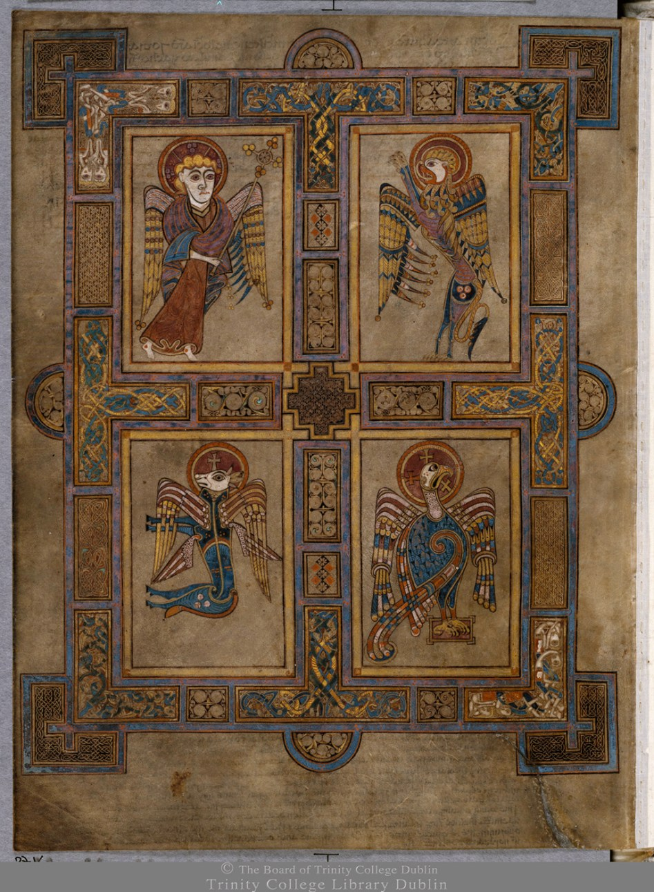 The Book Of Kells Symbols Of The Four Evangelists Manuscripts At