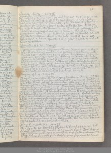 TCD MS 10473 f 36 recto Hingston's journal for 7 to 10 June 1924 describing the tragic summit attempt
