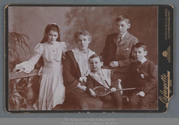 Mary Davitt, wife of Michael, and their children [c.1904] TCD MS 9649/4/221