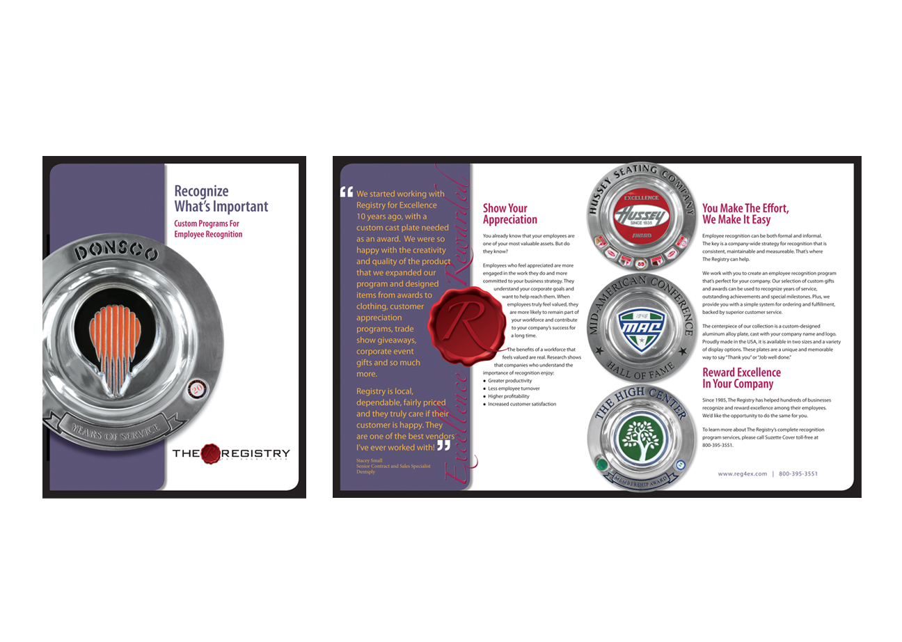 Registry For Excellence Brochure