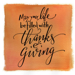 giving thanks, happy thanksgiving