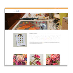 website design, kim smith, tcg art director and designer, oil painter