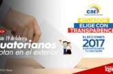 Ecuatorianos en el exterior votan este 19 de febrero
