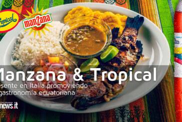 Manzana y Tropical, presente en Italia promoviendo la gastronomía ecuatoriana.