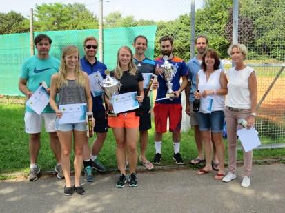 Sieger Damen / Herren / Damen B / Herren B Clubmeisterschaft TC Topspin Grafing Ebersberg 2016