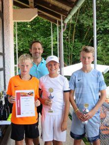 Sieger Knaben U14 Clubmeisterschaft TC Topspin Grafing Ebersberg 2017