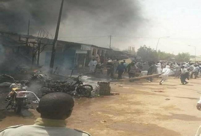 Tchad: incendie au Marché à Mil de N'Djaména
