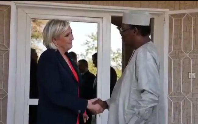 Tchad/France: l'accueil réservé à Marine Le Pen à N'Djaména et à Am-djaress a irrité Paris au plus haut niveau