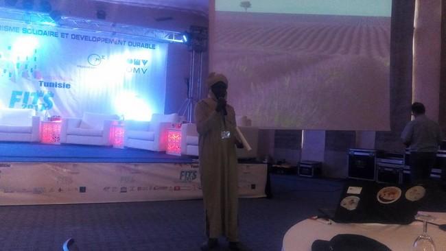 Koki  Chetté  Ertchimemi, l'ambassadeur du  tourisme  tchadien au  Forum  International  du  Tourisme Solidaire en Tunisie