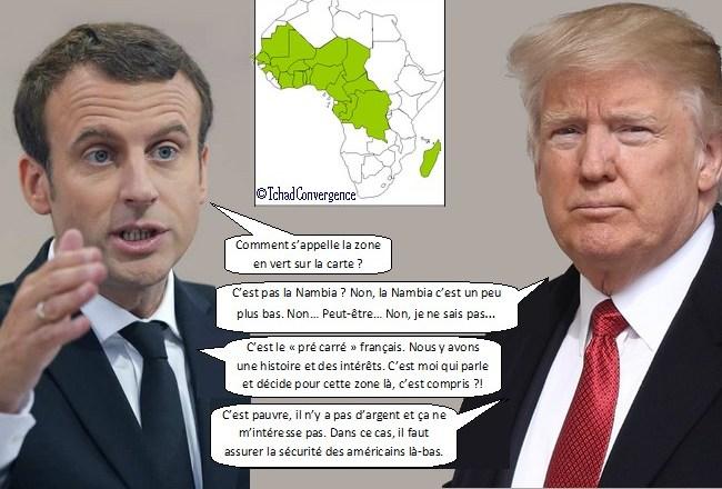 Le Tchad classé État voyou: Macron donne une leçon de géographie politique à Trump