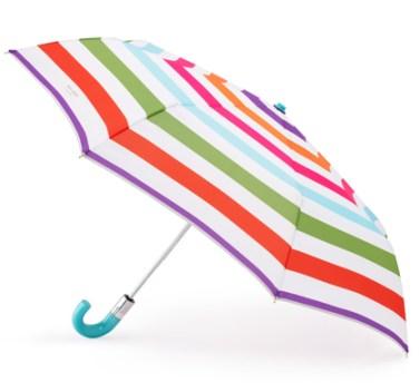 kate spade signature stripe umbrella