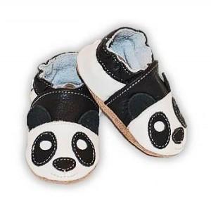 chaussons bébé enfant en cuir souple Panda Eko Tuptusie