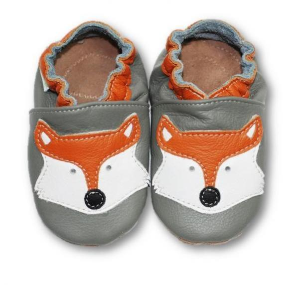 Chaussons En Cuir Souple Bebe Enfant renard