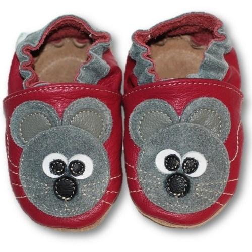 Chaussons en cuir souple bébé enfant la petite souris
