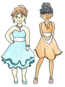 Prom dress drawing893
