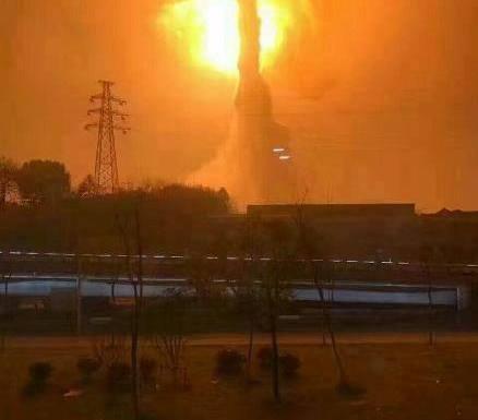 เกิดเหตุระเบิดที่โรงงานเคมีในเมืองถงหลิง