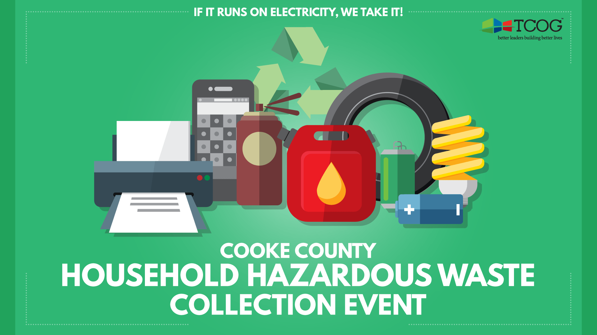 Cooke County Hhw Collection Event Texoma Council Of